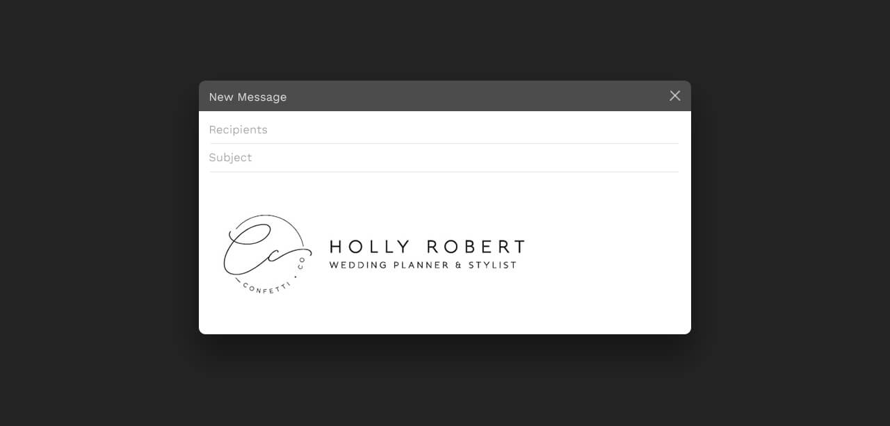 email mockup