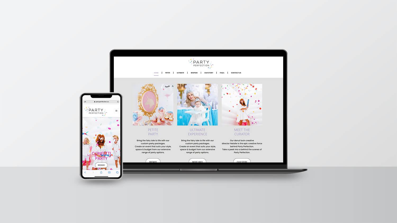Portfolio - Business Branding - Party Perfection Perth WA
