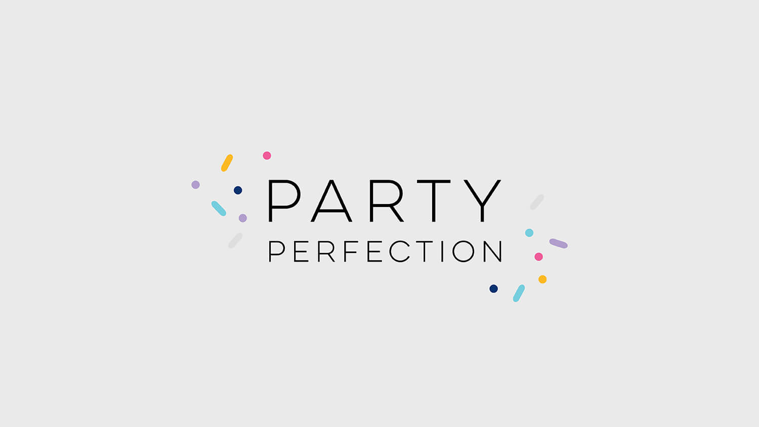 Business Branding & website design for Party Perfection, Perth WA