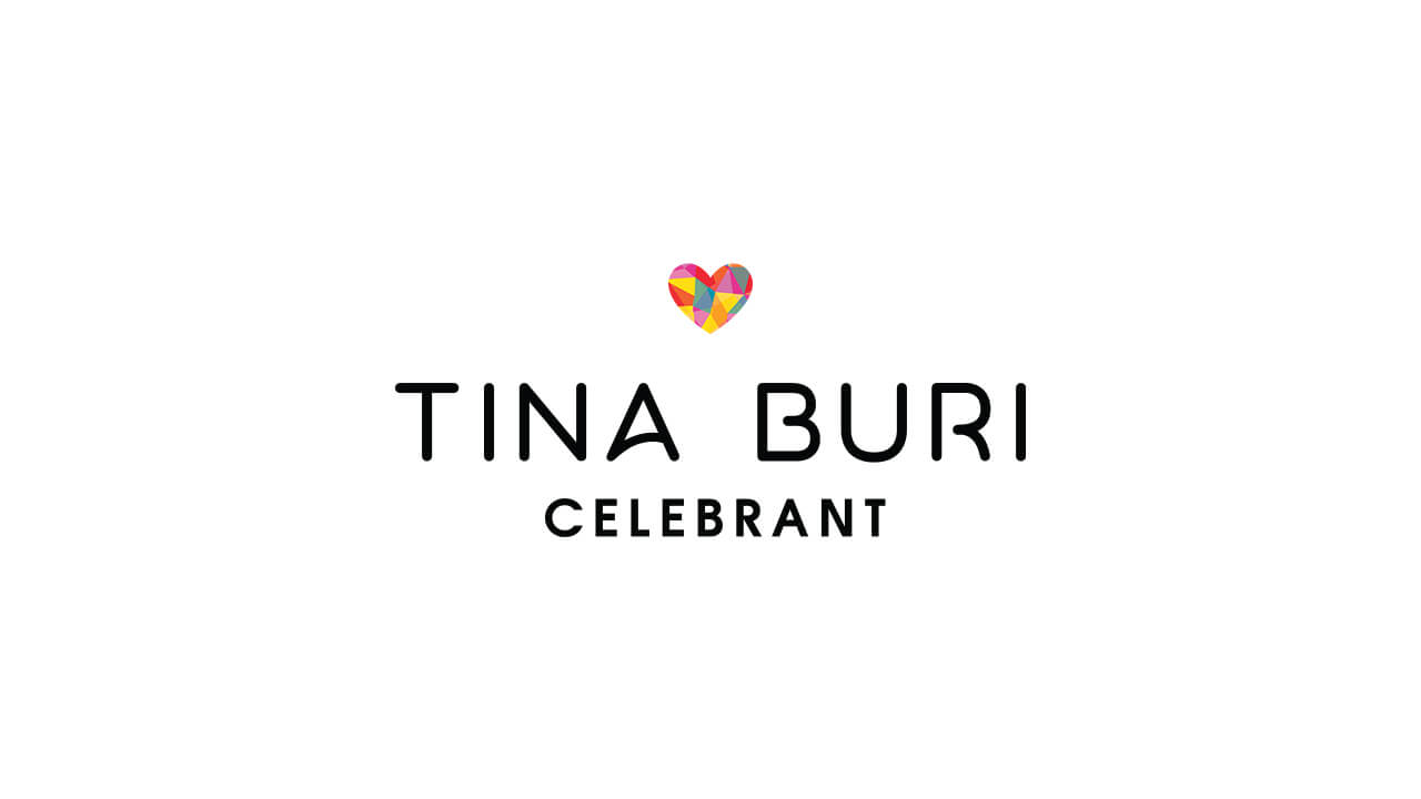 Business branding for Tina Buri Celebrant, Perth WA